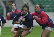 Twickenham, England, RFU Stadium, Surrey. <br /> Photo Peter Spurrier<br /> 10/05/2002<br /> Sport - Rugby - RFU Women's Rugby Team, training  at the RFU Stadium Twickenham.  [Mandatory Credit:Peter SPURRIER/Intersport images]<br /> England Women's rugby captain Paula George