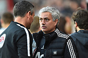 Manchester United manager Jose Mourinho during the Premier League match between Bournemouth and Manchester United at the Vitality Stadium, Bournemouth, England on 18 April 2018. Picture by Graham Hunt.
