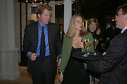 The Earl and Countess of Spencer. The Moneypenny diaries book launch. Smythson, 40 New Bond St. London.  4 October 2005. . ONE TIME USE ONLY - DO NOT ARCHIVE © Copyright Photograph by Dafydd Jones 66 Stockwell Park Rd. London SW9 0DA Tel 020 7733 0108 www.dafjones.com