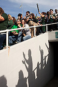 Fans cheer during the homecoming football game on homecoming weekend on Saturday, October 13, 2012..Photo by Chris Franz