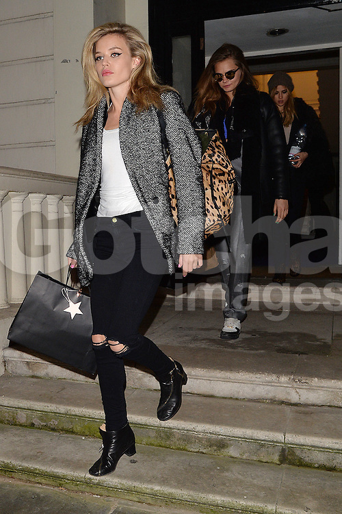 Models Georgia May Jagger, Cara Delevingne and Suki Waterhouse leaving a Vogue shoot in West London, UK. 21/01/2015<br /> BYLINE MUST READ : GOTCHAIMAGES.COM<br /> <br /> Copyright by &copy; Gotcha Images Ltd. All rights reserved.<br /> Usage of this image is conditional upon the acceptance <br /> of Gotcha Images Ltd, terms and conditions available at<br /> www.gotchaimages.com
