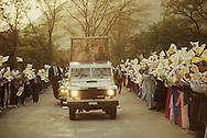 Pope John II in Korea in May 1984..Photograph by Dennis Brack  b 22