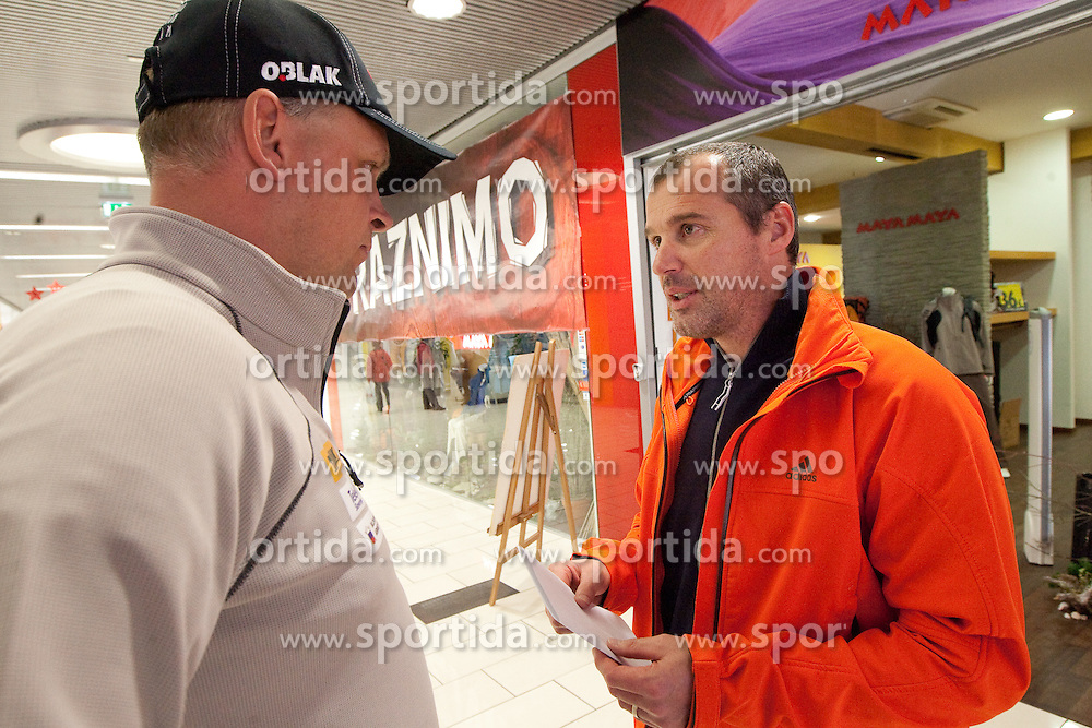 Matej Kordez and Borut Nunar at press conference of Slovenia Biathlon team before new season 2010 - 2011, on November 24, 2010, in Emporium, BTC, Ljubljana, Slovenia.  (Photo by Vid Ponikvar / Sportida)