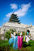 Scarecrow display outside the National Folk Museum at Kyongbokkung Palace, Seoul, South Korea