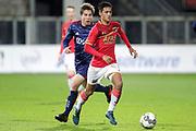(L-R) Carel Eiting of Ajax U23, Tijani Reijnders of AZ Alkmaar U23