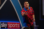 Daryl Gurney after giving away his darts after winning his Second Round match in the Darts World Championship 2018 at Alexandra Palace, London, United Kingdom on 18 December 2018.