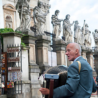 Accordion player, Krakow, Poland