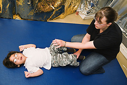 Child with physical disability difficulties exercising