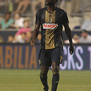 Philadelphia Union Attacker C.J. SAPONG (17) in action in the second half of a Major League Soccer match between the Philadelphia Union and Columbus Crew SC Wednesday, July. 26, 2017, at Talen Energy Stadium in Chester, PA.