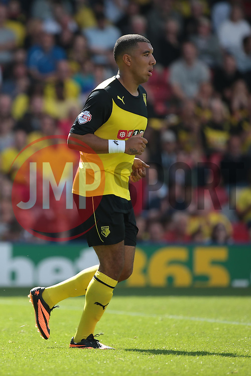 Watford's Troy Deeney  - Photo mandatory by-line: Nigel Pitts-Drake/JMP - Tel: Mobile: 07966 386802 25/08/2013 - SPORT - FOOTBALL -Vicarage Road Stadium - Watford -  Watford v Nottingham Forest - Sky Bet Championship