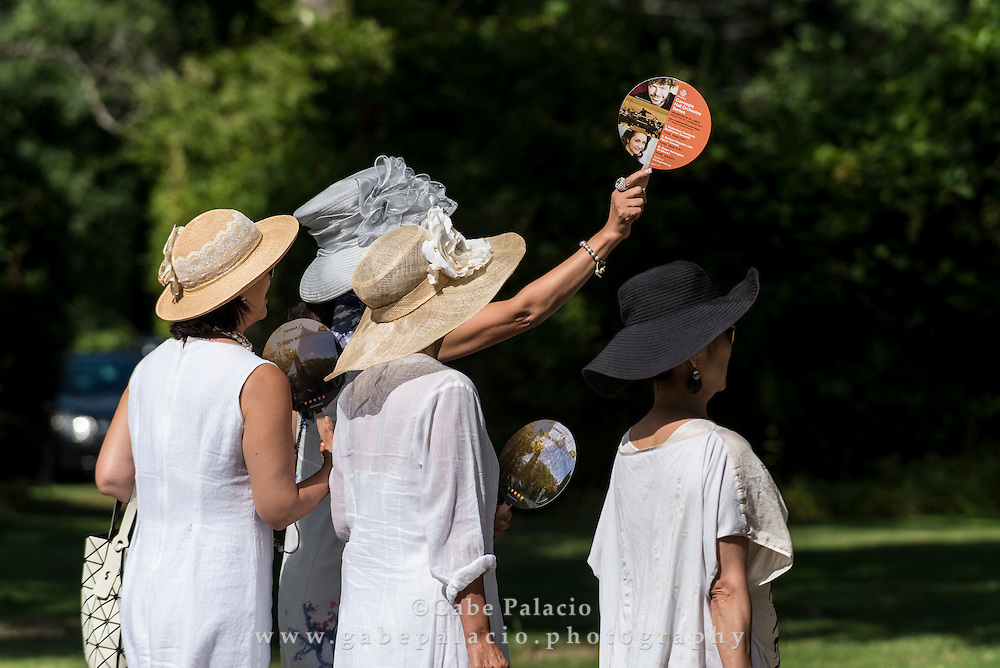 Enjoying the grounds  at Caramoor in Katonah New York on August 7, 2016. <br /> (photo by Gabe Palacio)