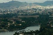Belo Horizonte_MG, Brasil...Imagens aereas da Pampulha. Na foto a Lagoa da Pampulha, Mineirao e Mineirinho...Pampulha aerial view. In this photo Pampulha lake, Mineirao and Mineirinho...FOTO: BRUNO MAGALHAES /  NITRO