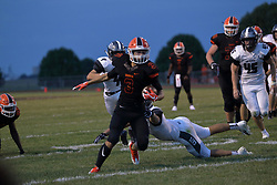31 August 2018: Normal West Wildcats at Normal Community Ironmen (2018 Chili Bowl) football, Normal Illinois<br /> <br /> #bestlookmagazine #alphoto513 #IHSA #IHSAFootball #Ironfootball  #Wildcats