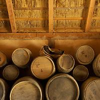 Interior of a storeroom at Jamestown Settlement.