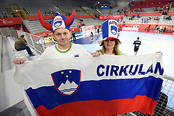 19.01.2018, Varazdin Arena, Varazdin, CRO, EHF EM, Herren, Deutschland vs Tschechien, Hauptrunde, Gruppe 2, im Bild Fans Czech Republic // during the main round, group 2 match of the EHF men's Handball European Championship between Germany and Czech Republic at the Varazdin Arena in Varazdin, Croatia on 2018/01/19. EXPA Pictures © 2018, PhotoCredit: EXPA/ Pixsell/ Vjeran Zganec Rogulja<br /> <br /> *****ATTENTION - for AUT, SLO, SUI, SWE, ITA, FRA only*****
