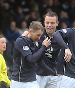 Dundee captain Gavin Rae congratulates goal scorer Martin Boyle - Dundee v Hamilton, SPFL Championship at <br /> Dens Park<br /> <br />  - &copy; David Young - www.davidyoungphoto.co.uk - email: davidyoungphoto@gmail.com