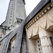 The Douaumont ossuary (L'ossuaire de Douaumont) built in 1932 is a memorial containing the remains of soldiers who died at the battle of Verdun (21 February 1916 – 19 December 1916) During the battle 230.000 man died.  Ossuaire de Verdun, Verdun, ‪Meuse‬, France