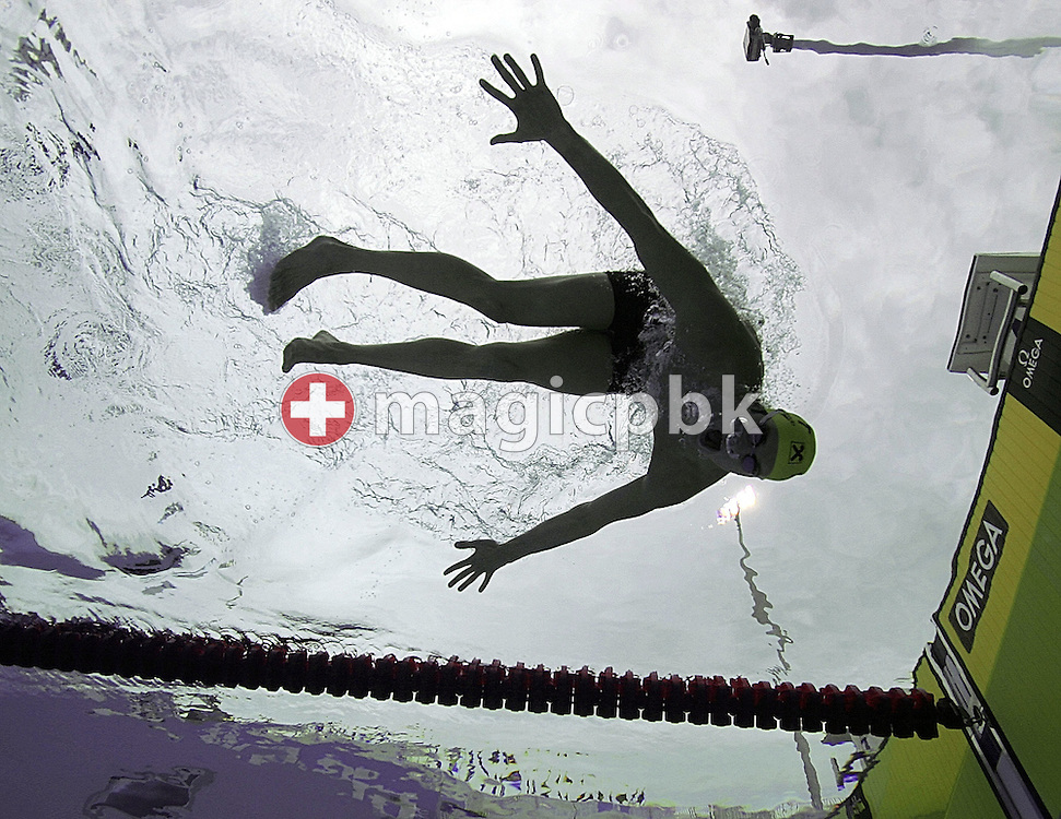 Austria's Markus Rogan swims during a practice session at the FINA World Championships in Montreal, Canada Tuesday 26 July, 2005.  (Photo by Patrick B. Kraemer / MAGICPBK)