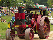 An antique Avery steam tractor on parade at the Rock River Thresheree, Edgerton, Wisconsin; 2 Sept 2013