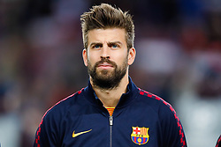November 5, 2019, Barcelona, Catalonia, Spain: November 5, 2019 - Barcelona, Spain - Uefa Champions League Stage Group, FC Barcelona v Slavia Praga: Gerard Pique of FC Barcelona before start the game. (Credit Image: © Eric Alonso/ZUMA Wire)