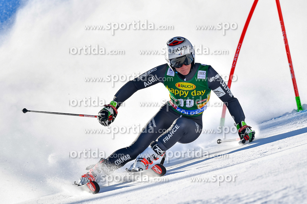 22.10.2016, Rettenbachferner, Soelden, AUT, FIS Weltcup Ski Alpin, Soelden, Riesenslalom, Damen, 1. Durchgang, im Bild Adeline Baud Mugnier (FRA) // Adeline Baud Mugnier of France in action during 1st run of ladies Giant Slalom of the FIS Ski Alpine Worldcup opening at the Rettenbachferner in Soelden, Austria on 2016/10/22. EXPA Pictures &copy; 2016, PhotoCredit: EXPA/ Nisse Schmid<br /> <br /> *****ATTENTION - OUT of SWE*****