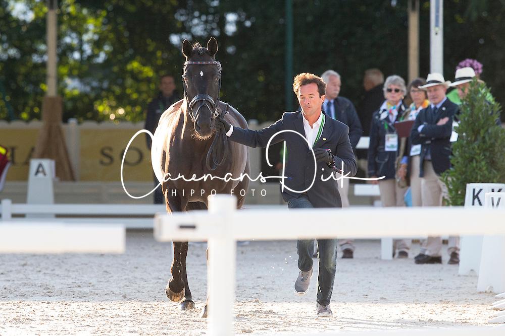 Marc Boblet, (FRA), Noble Dream Concept Sol - Horse Inspection Dressage - Alltech FEI World Equestrian Games™ 2014 - Normandy, France.<br /> © Hippo Foto Team - Leanjo de Koster<br /> 25/06/14
