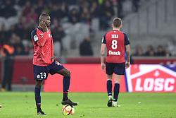 March 15, 2019 - Lille, France, FRANCE - Deception des joueurs du Losc apres le but de VINICIUS Carlos (Monaco) .Nicolas Pepe  (Credit Image: © Panoramic via ZUMA Press)