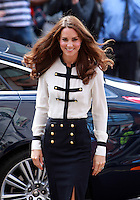 Catherine, Duchess of Cambridge visits areas in Birmingham affected by riots on August 19, 2011 in Birmingham, England.