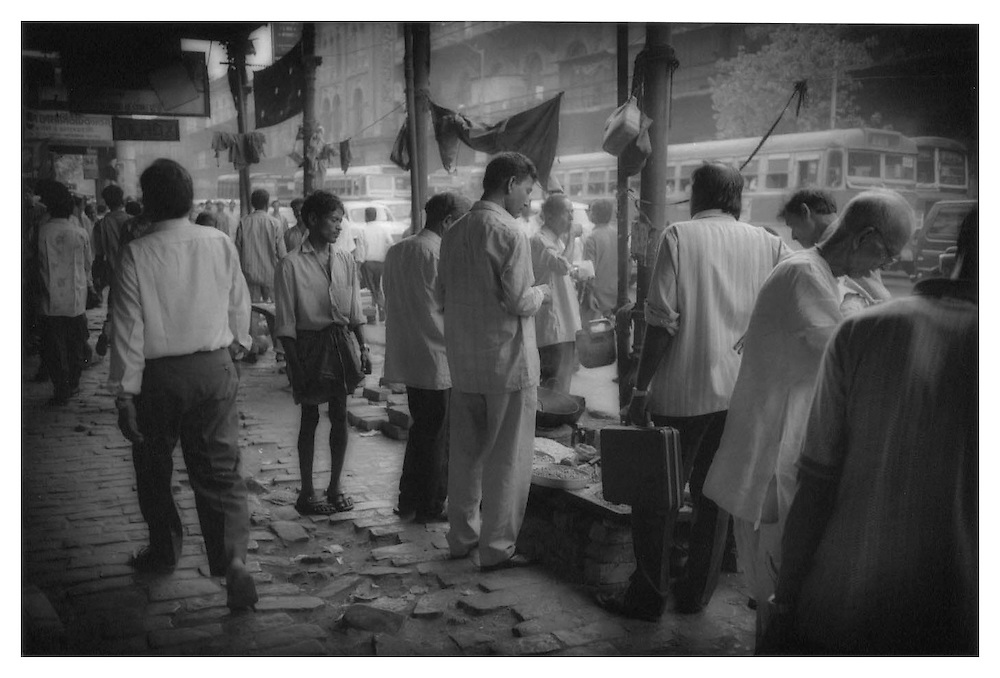 Sidewalk vendor in central Calcutta.