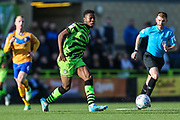 Forest Green Rovers Ebou Adams(14) passes the ball forward during the EFL Sky Bet League 2 match between Forest Green Rovers and Mansfield Town at the New Lawn, Forest Green, United Kingdom on 19 October 2019.