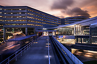 A twilight exterior photograph of the redesigned Tampa International Airport. I was commissioned by my clients at HOK to photograph their work in re-imagining Florida's fast-growing airport.