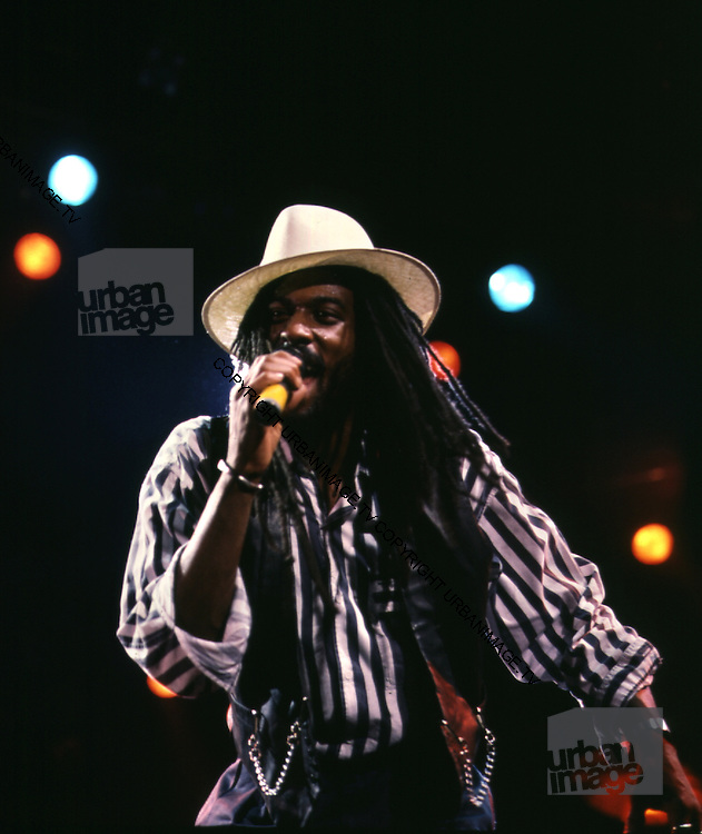 Aswad UK Reggae Band - Drummie of Aswad live in London 1987