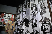 "KUNMING, CHINA - SEPTEMBER 06: (CHINA OUT)<br /> <br /> Flying Tiger Veterans Visit The Cultural Relics Exhibition Of The Flying Tigers In Kunming<br /> <br /> A Flying Tiger veteran visits The Cultural Relics\' Exhibition of the ""Flying Tigers\"" at Kunming Museum on September 6, 2015 in Kunming, Yunnan Province of China<br /> <br /> The 1st American Volunteer Group (AVG) of the Chinese Air Force in 1941–1942, nicknamed the Flying Tigers, was composed of pilots from the United States Army Air Corps (USAAC), Navy (USN), and Marine Corps (USMC), recruited under presidential authority and commanded by Claire Lee Chennault. The shark-faced nose art of the Flying Tigers remains among the most recognizable image of any individual combat aircraft or combat unit of World War II.<br /> ©Exclusivepix Media"