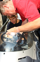 17.07.2010, Groebming, AUT, Ennstal Classic, Chopard Grand Prix Groebming, im Bild Sebastian Vettel auf einem Formel 1 Porsche aus dem Jahre 1962 Einweißung durch den Eigner des Fahrzeuges (Porschemuseum), EXPA Pictures © 2010, PhotoCredit: EXPA/ J. Groder / SPORTIDA PHOTO AGENCY
