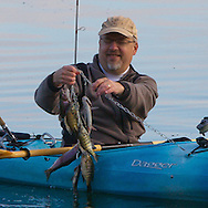 Kayak fishing for trout and panfish