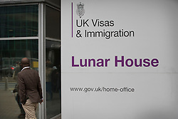 © Licensed to London News Pictures. 18/10/2016. Croydon, UK. The main entrance to Lunar House, the Home Office visa and immigration centre in Croydon. credit: Peter Macdiarmid/LNP