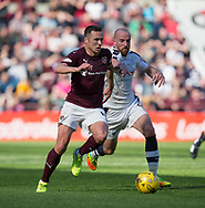 Hearts&rsquo; Don Cowie and Dundee&rsquo;s James Vincent - Hearts v Dundee in the Ladbrokes Scottish Premiership at Tynecastle, Edinburgh, Photo: David Young<br /> <br />  - &copy; David Young - www.davidyoungphoto.co.uk - email: davidyoungphoto@gmail.com