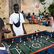 GOREÉ ISLAND (Senegal). 2007. Boys playing table football in Goreé