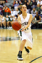 10 January 2009: Mallory Heydorn. The Illinois Wesleyan Titans, ranked #1 in the latest USA Today/ESPN poll, take down the Lady Reds of Carthage and remain undefeated,  2-0 in the CCIW and over all to 12-0. This is the first time in the history of the Lady Titans Basketball they have been ranked #1 The Titans and Lady Reds played in the Shirk Center on the Illinois Wesleyan Campus in Bloomington Illinois.