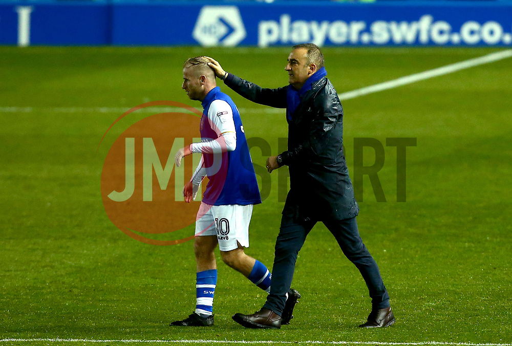 Barry Bannan of Sheffield Wednesday is congratulated by Sheffield Wednesday manager Carlos Carvalhal after the win over Chesterfield - Mandatory by-line: Robbie Stephenson/JMP - 08/08/2017 - FOOTBALL - Hillsborough - Sheffield, England - Sheffield Wednesday v Chesterfield - Carabao Cup