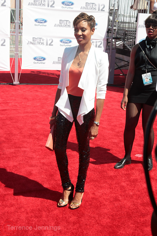 June 30, 2012-Los Angeles, CA : Recording Artist/On Air-personality MC Lyte  attends the 2012 BET Awards held at the Shrine Auditorium on July 1, 2012 in Los Angeles. The BET Awards were established in 2001 by the Black Entertainment Television network to celebrate African Americans and other minorities in music, acting, sports, and other fields of entertainment over the past year. The awards are presented annually, and they are broadcast live on BET. (Photo by Terrence Jennings)