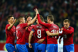 November 15, 2018 - Gdansk, Poland - Jakub Jankto of Czech Republic celebrates a goal during the international friendly soccer match between Poland and Czech Republic at Energa Stadium in Gdansk, Poland on 15 November 2018. (Credit Image: © Foto Olimpik/NurPhoto via ZUMA Press)
