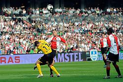 27-04-2008 VOETBAL: KNVB BEKERFINALE FEYENOORD - RODA JC: ROTTERDAM <br /> Feyenoord wint de KNVB beker - Kevin Hofland en Andres Oper<br /> ©2008-WWW.FOTOHOOGENDOORN.NL