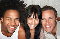 Group of smiling young people portrait