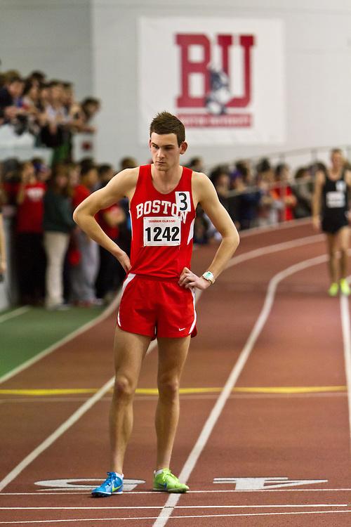 Boston University Terrier Invitational Indoor Track Meet: pacesetter Stuart Ross, Boston U, Elite Mens Mile