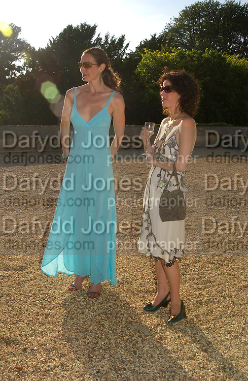 Catherine Bailey and Mollie Dent-Brocklehurst . Mollie Dent-Brocklehurst and Vanity Fair host  the opening of 'Vertigo'  a mixed art exhibition at Sudeley Castle. Winchombe, Gloucestershire. 18 June 2005. ONE TIME USE ONLY - DO NOT ARCHIVE  © Copyright Photograph by Dafydd Jones 66 Stockwell Park Rd. London SW9 0DA Tel 020 7733 0108 www.dafjones.com