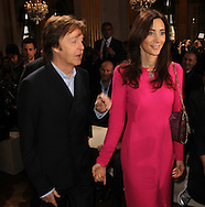 PARIS, FRANCE - MARCH 05:  Paul McCartney and Nancy Shevell attend the Stella McCartney Ready-To-Wear Fall/Winter 2012 show as part of Paris Fashion Week on March 5, 2012 at the Hotel de Ville in Paris, France.  (Photo by Tony Barson/WireImage)