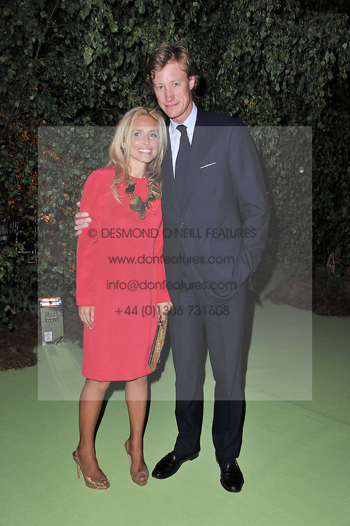 PIA GETTY and BEN HOLLAND-HIBBERT at a dinner hosted by Cartier in celebration of the Chelsea Flower Show held at Battersea Power Station, 188 Kirtling Street, London SW8 on 23rd May 2011.