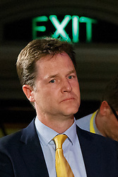© Licensed to London News Pictures. 04/05/2015. LONDON, UK. Liberal Democrat leader Nick Clegg attending to Citizens UK's assembly at Westminster Central Hall in London on Monday 4 May 2015. Photo credit : Tolga Akmen/LNP