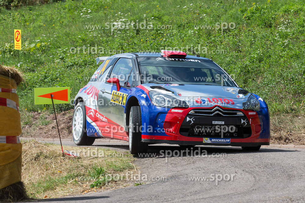 21.08.2013, Shakedown, Trier, GER, FIA WRC, ADAC Rallye Deutschland, im Bild Robert KUBICA/ Macek BARAN (Robert Kubica Team/ CITROEN DS3 RRC), Aktion / Action // during the FIA WRC Rallye of Germany, Shakedown, Trier, Germany on 2013/08/21. EXPA Pictures &copy; 2013, PhotoCredit: EXPA/ Eibner/ Alexander Neis<br /> <br /> ***** ATTENTION - OUT OF GER *****